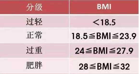 中国BMI标准